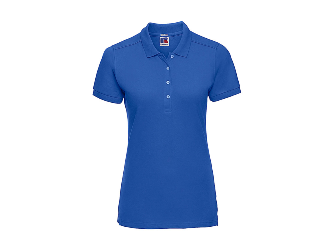 Russell Europe Ladies` Fitted Stretch Polo, Azure, L bedrucken, Art.-Nr. 566003165