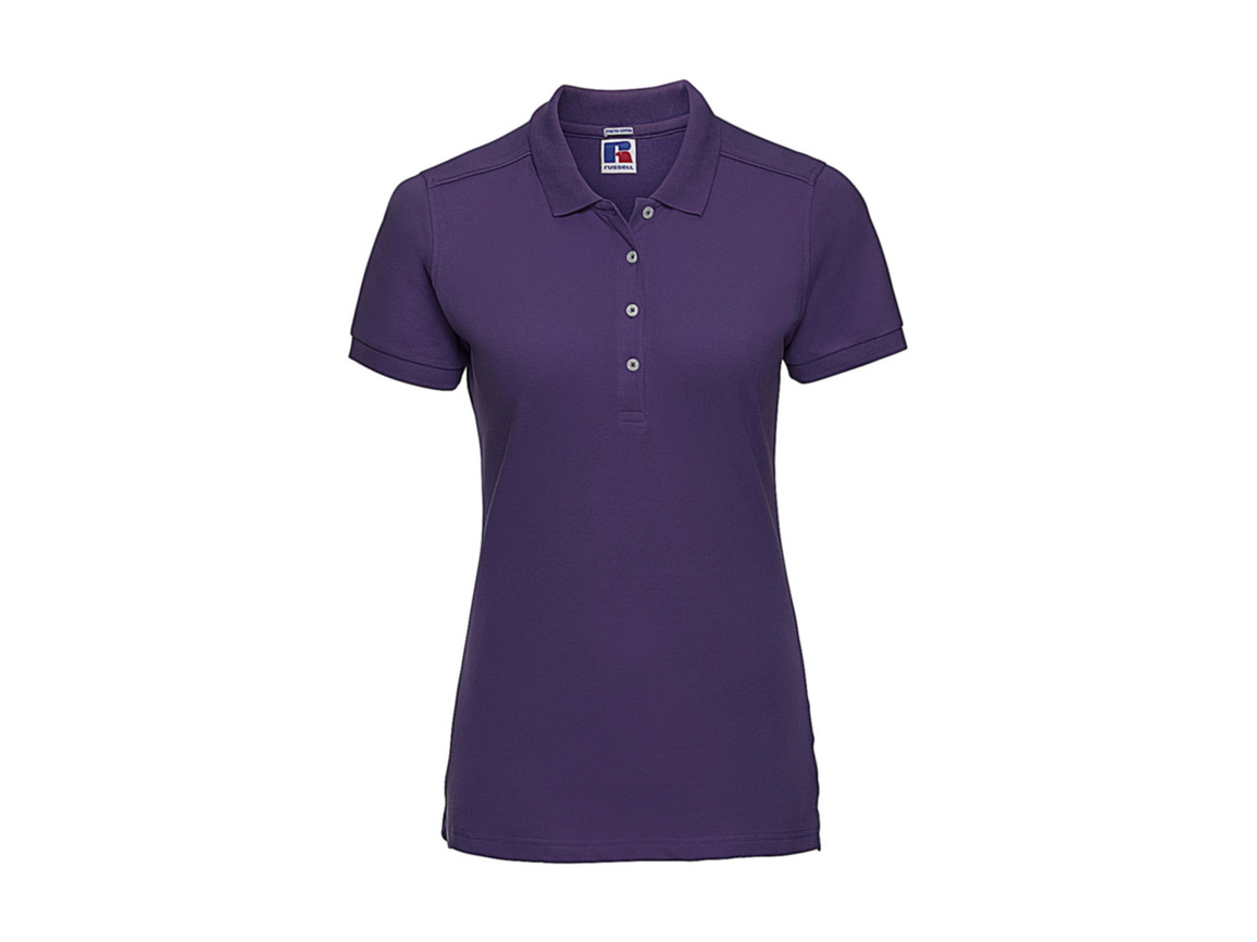 Russell Europe Ladies` Fitted Stretch Polo, Ultra Purple, XL bedrucken, Art.-Nr. 566003476