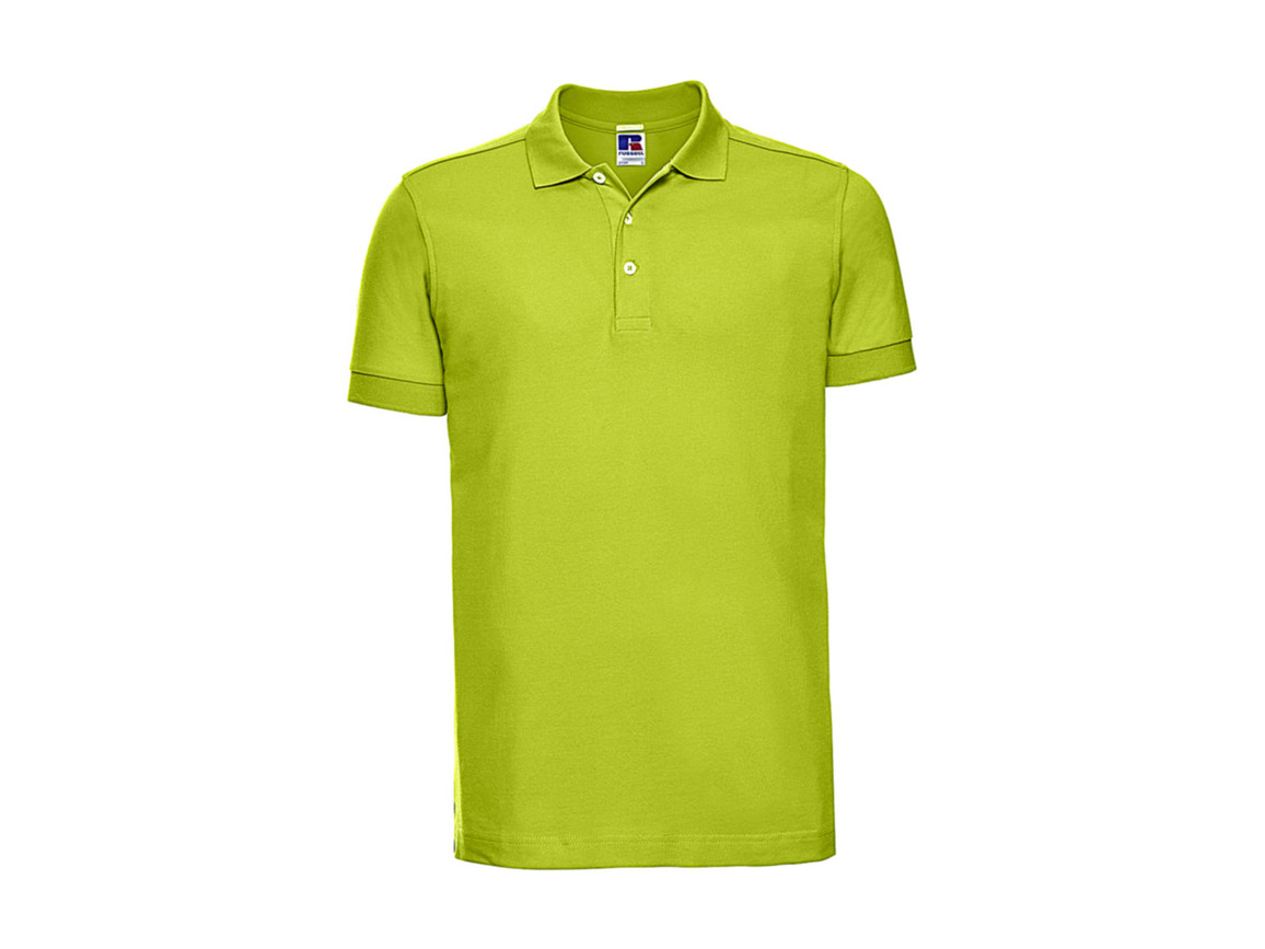 Russell Europe Men`s Fitted Stretch Polo, Lime, L bedrucken, Art.-Nr. 567005215