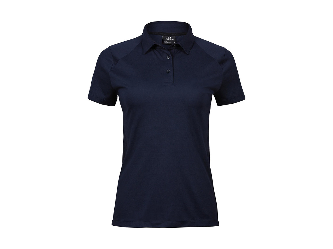 Tee Jays Ladies` Luxury Sport Polo, Navy, 2XL bedrucken, Art.-Nr. 571542007