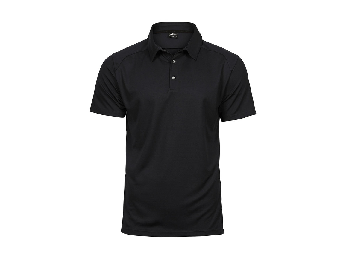 Tee Jays Luxury Sport Polo, Black, M bedrucken, Art.-Nr. 572541014