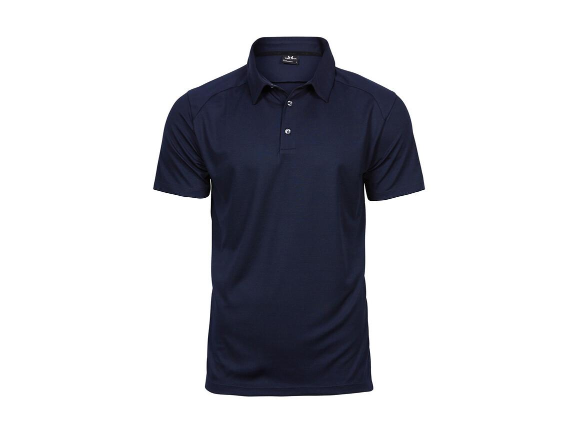 Tee Jays Luxury Sport Polo, Navy, 3XL bedrucken, Art.-Nr. 572542008