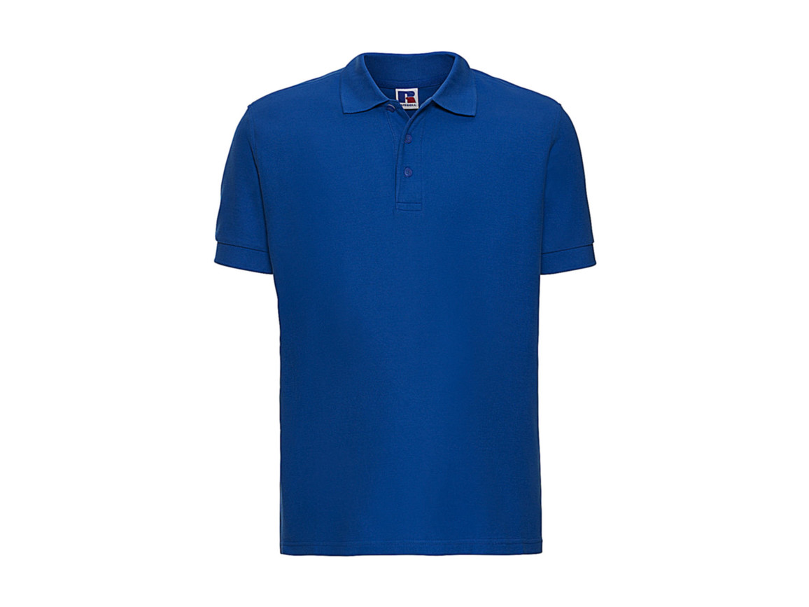 Russell Europe Better Polo Men, Azure, L bedrucken, Art.-Nr. 577003165