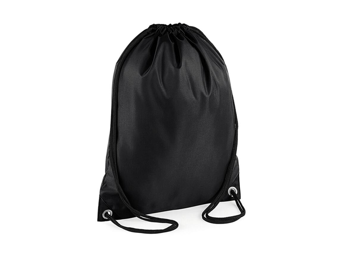 Bag Base Budget Gymsac, Black, One Size bedrucken, Art.-Nr. 601291010