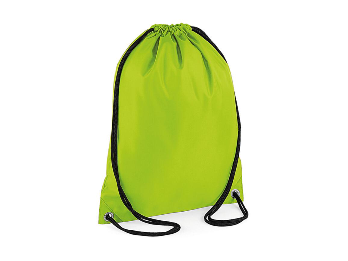 Bag Base Budget Gymsac, Lime Green, One Size bedrucken, Art.-Nr. 601295210