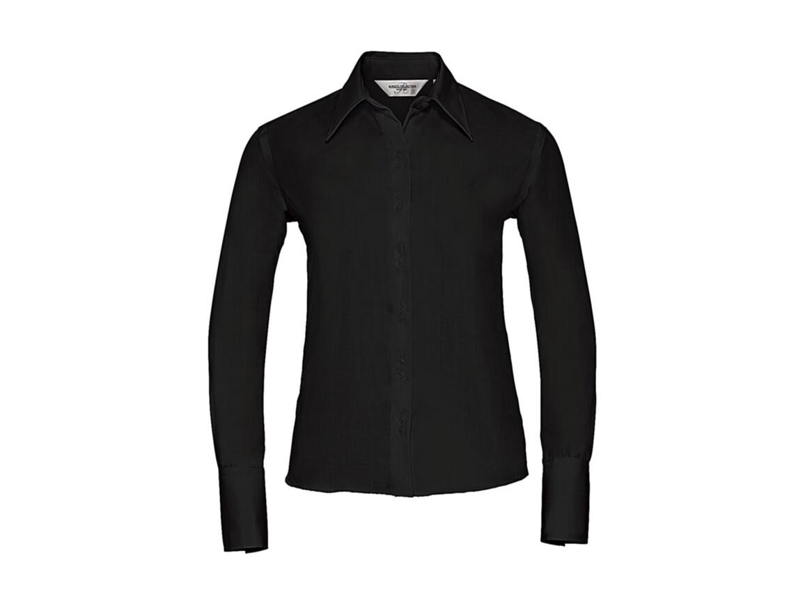 Russell Europe Ladies` Ultimate Non-iron Shirt LS, Black, 2XL bedrucken, Art.-Nr. 706001017