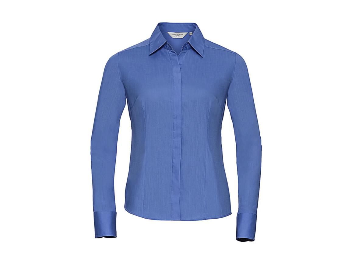 Russell Europe Ladies` LS Poplin Shirt, Corporate Blue, XL bedrucken, Art.-Nr. 712002336