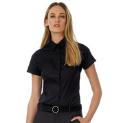 B & C Black Tie SSL/women Poplin Shirt bedrucken, Art.-Nr. 71342
