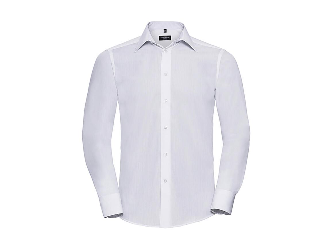Russell Europe Men`s LS Poplin Shirt, White, 2XL bedrucken, Art.-Nr. 717000007