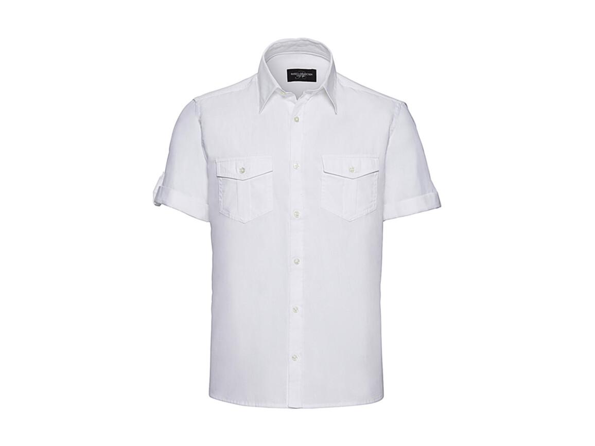 Russell Europe Men`s Roll Sleeve Shirt, White, 4XL bedrucken, Art.-Nr. 719000007