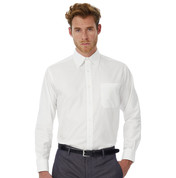 B & C Oxford LSL/men Shirt bedrucken, Art.-Nr. 72042
