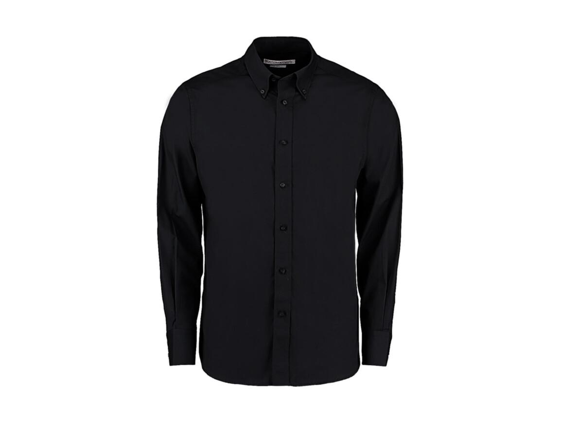 Kustom Kit Tailored Fit City Shirt, Black, 2XL bedrucken, Art.-Nr. 724111018