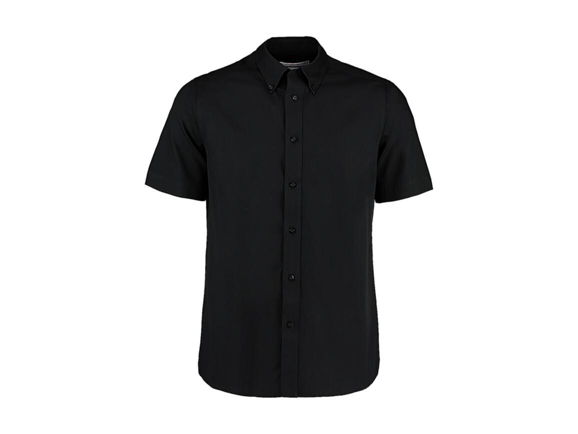Kustom Kit Tailored Fit City Shirt SSL, Black, L (42cm) bedrucken, Art.-Nr. 725111014