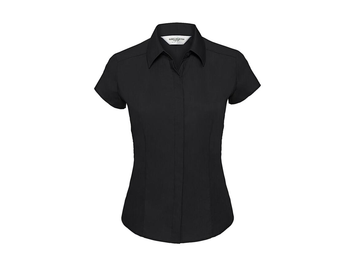 Russell Europe Ladies` Poplin Shirt, Black, XL bedrucken, Art.-Nr. 729001016