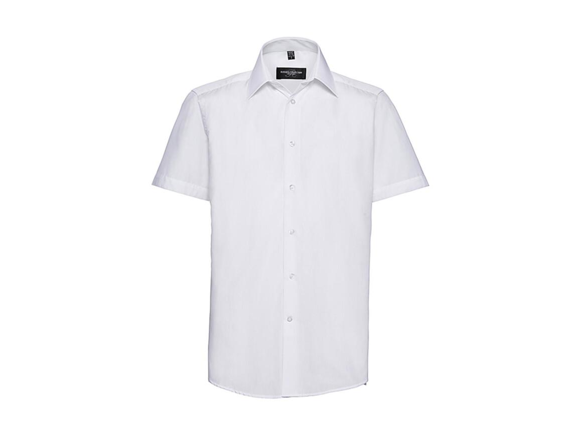 Russell Europe Men`s Poplin Shirt, White, 4XL bedrucken, Art.-Nr. 730000009