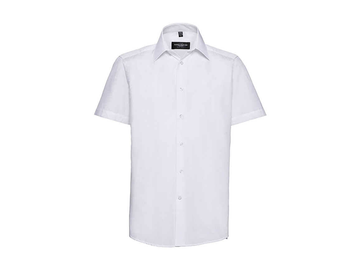Russell Europe Men`s Poplin Shirt, White, L bedrucken, Art.-Nr. 730000005