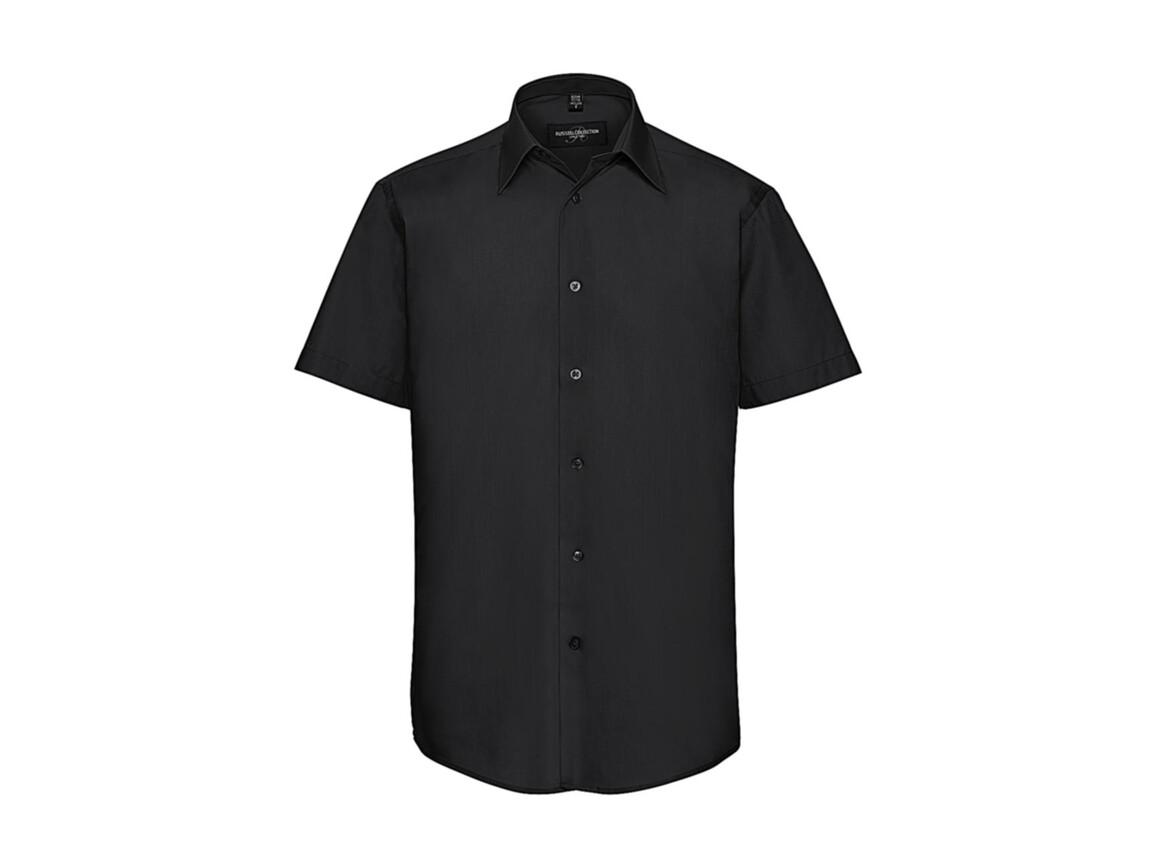 Russell Europe Men`s Poplin Shirt, Black, S bedrucken, Art.-Nr. 730001013