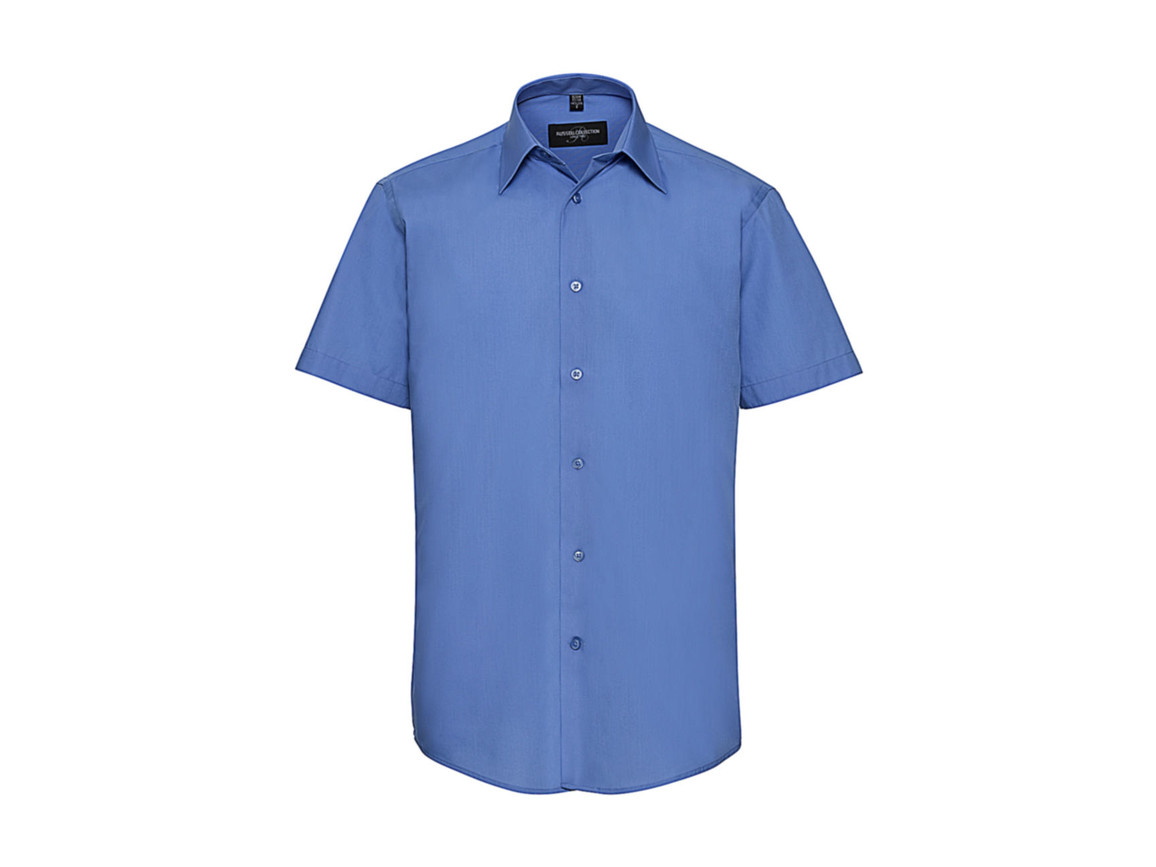 Russell Europe Men`s Poplin Shirt, Corporate Blue, 2XL bedrucken, Art.-Nr. 730002337