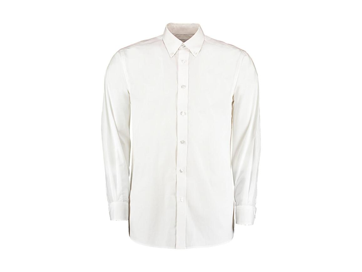 Kustom Kit Tailored Fit Business Shirt, White, S bedrucken, Art.-Nr. 730110001