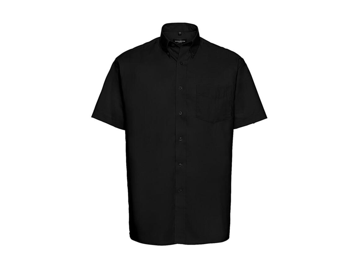 Russell Europe Oxford Shirt, Black, 5XL bedrucken, Art.-Nr. 731001018