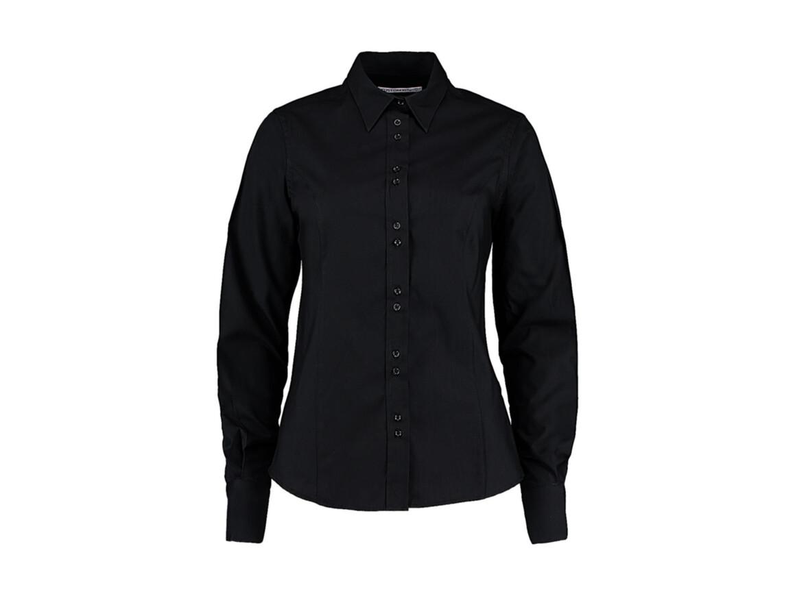 Kustom Kit Women`s Tailored Fit City Shirt, Black, S bedrucken, Art.-Nr. 734111013