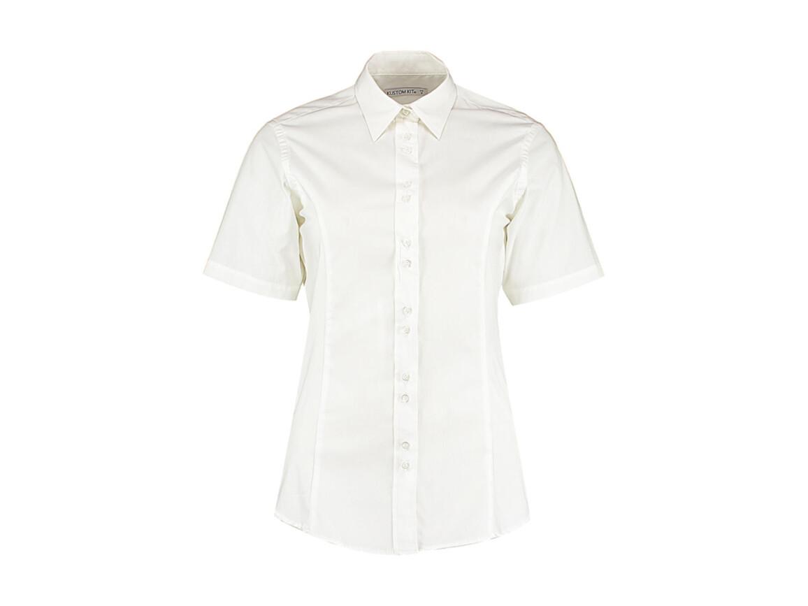 Kustom Kit Women`s Tailored Fit City Shirt SSL, White, XL (16) bedrucken, Art.-Nr. 735110006