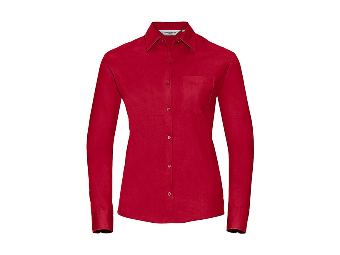 Russell Europe Ladies` Cotton Poplin Shirt LS, Classic Red, 3XL (46) bedrucken, Art.-Nr. 746004018