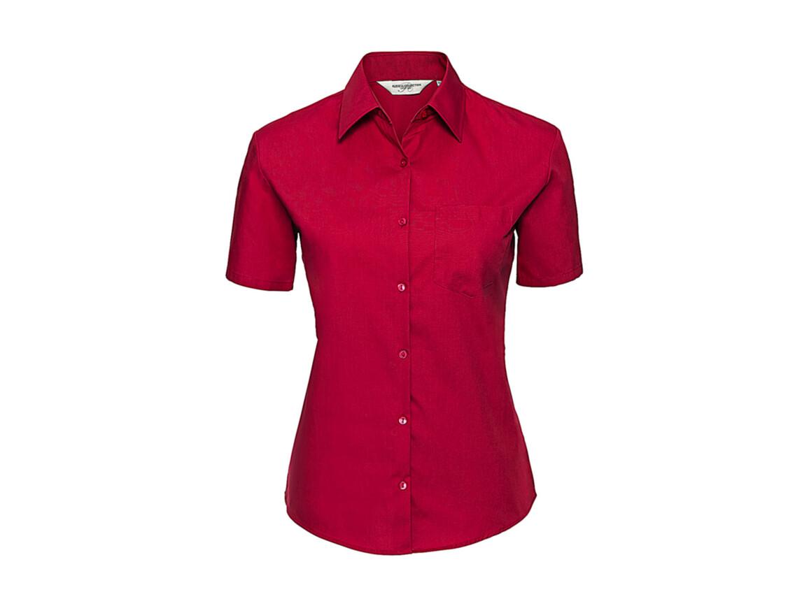 Russell Europe Ladies` Cotton Poplin Shirt, Classic Red, XS (34) bedrucken, Art.-Nr. 747004012