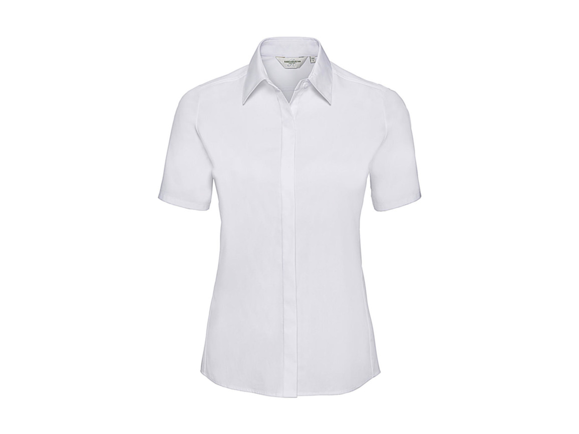 Russell Europe Ladies` Ultimate Stretch Shirt, White, L (40) bedrucken, Art.-Nr. 761000005