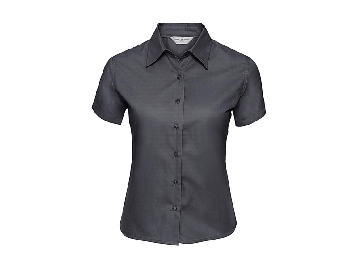 Russell Europe Ladies` Classic Twill Shirt, Zinc, XL (42) bedrucken, Art.-Nr. 767001126