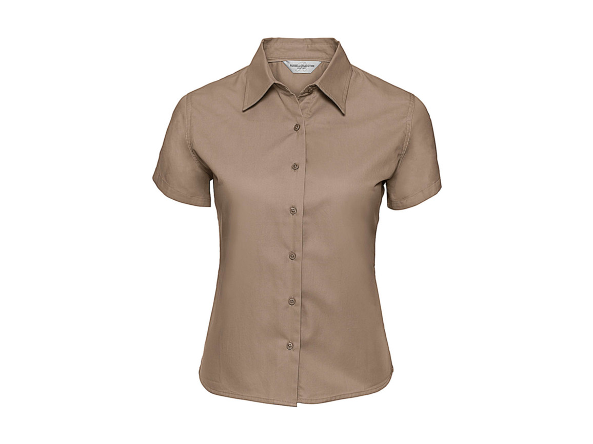Russell Europe Ladies` Classic Twill Shirt, Khaki, M (38) bedrucken, Art.-Nr. 767007314