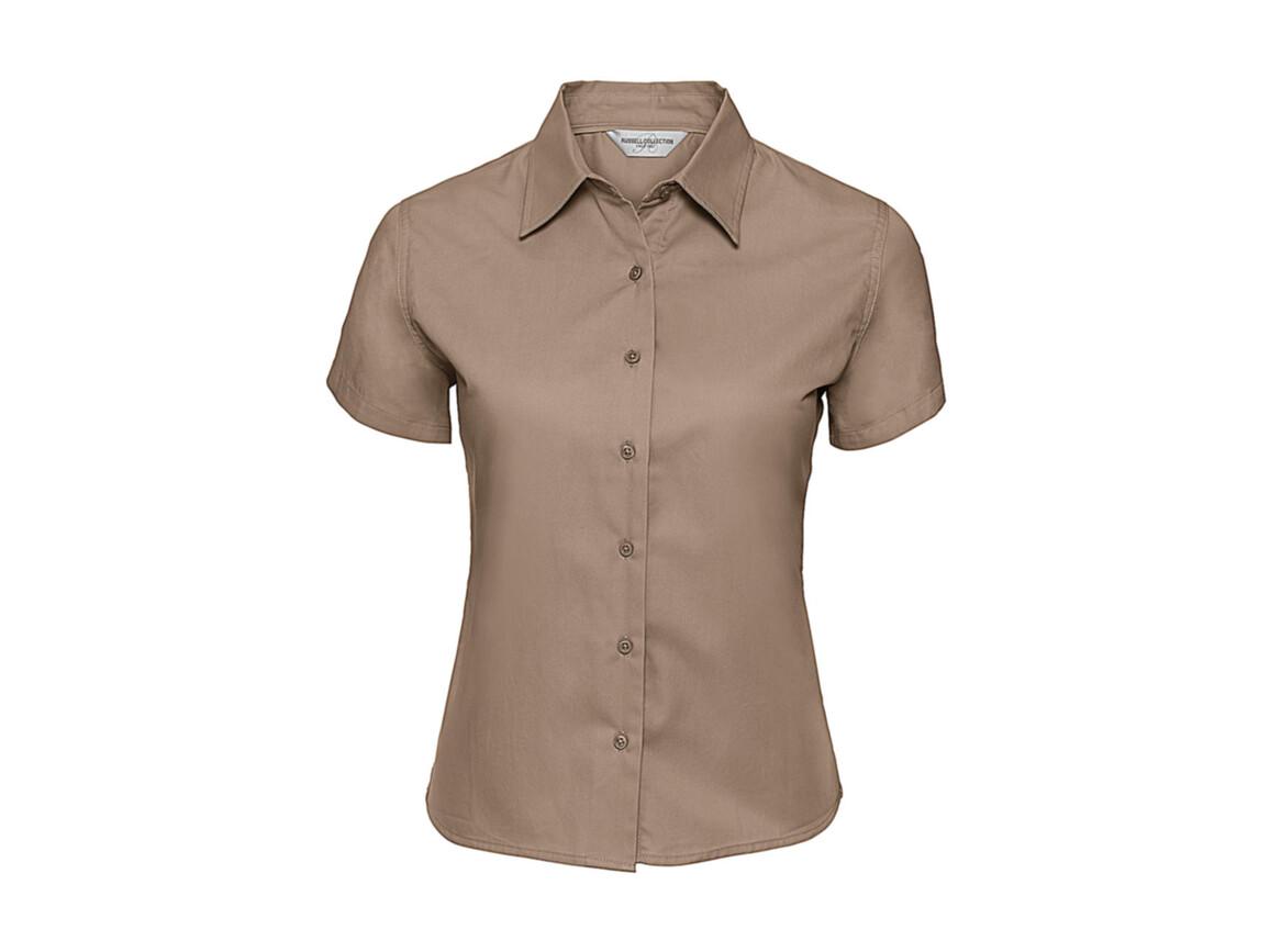 Russell Europe Ladies` Classic Twill Shirt, Khaki, M (38) bedrucken, Art.-Nr. 767007314