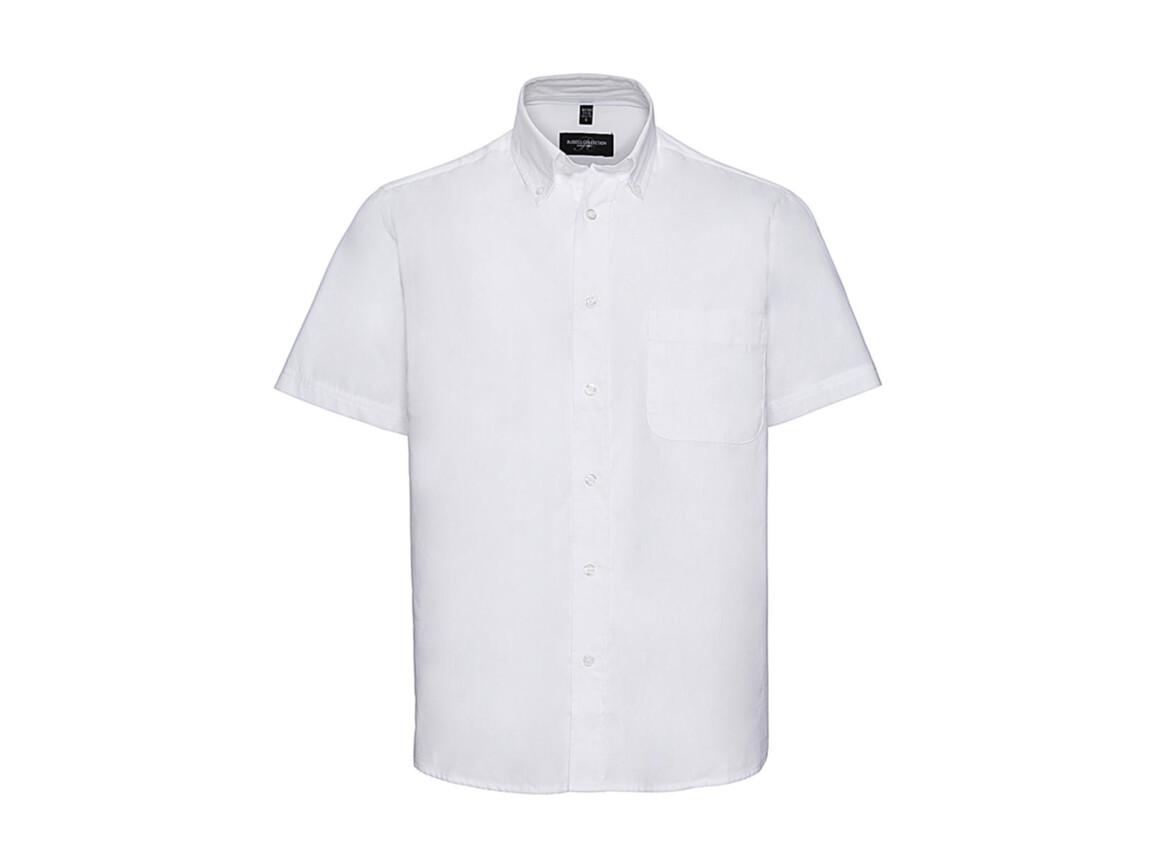 Russell Europe Short Sleeve Classic Twill Shirt, White, XL bedrucken, Art.-Nr. 777000004