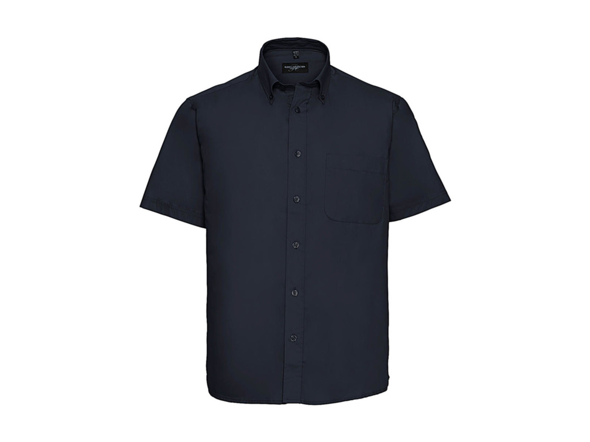 Russell Europe Short Sleeve Classic Twill Shirt, French Navy, S bedrucken, Art.-Nr. 777002011
