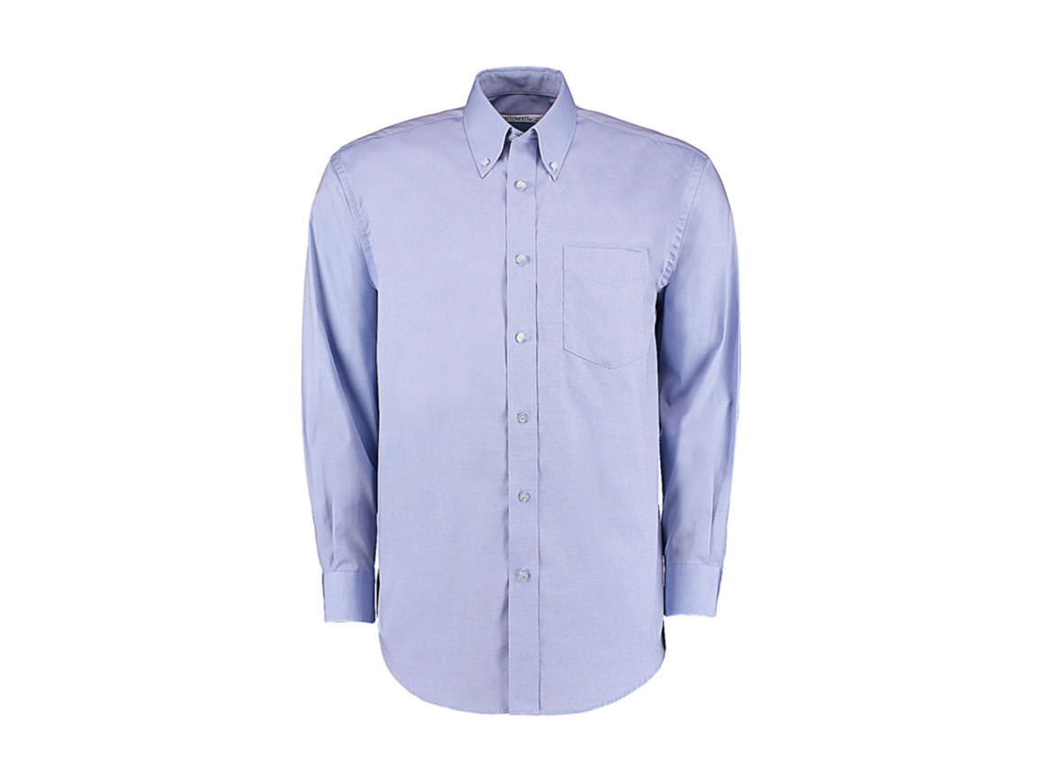 Kustom Kit Classic Fit Premium Oxford Shirt, Light Blue, L bedrucken, Art.-Nr. 778113215