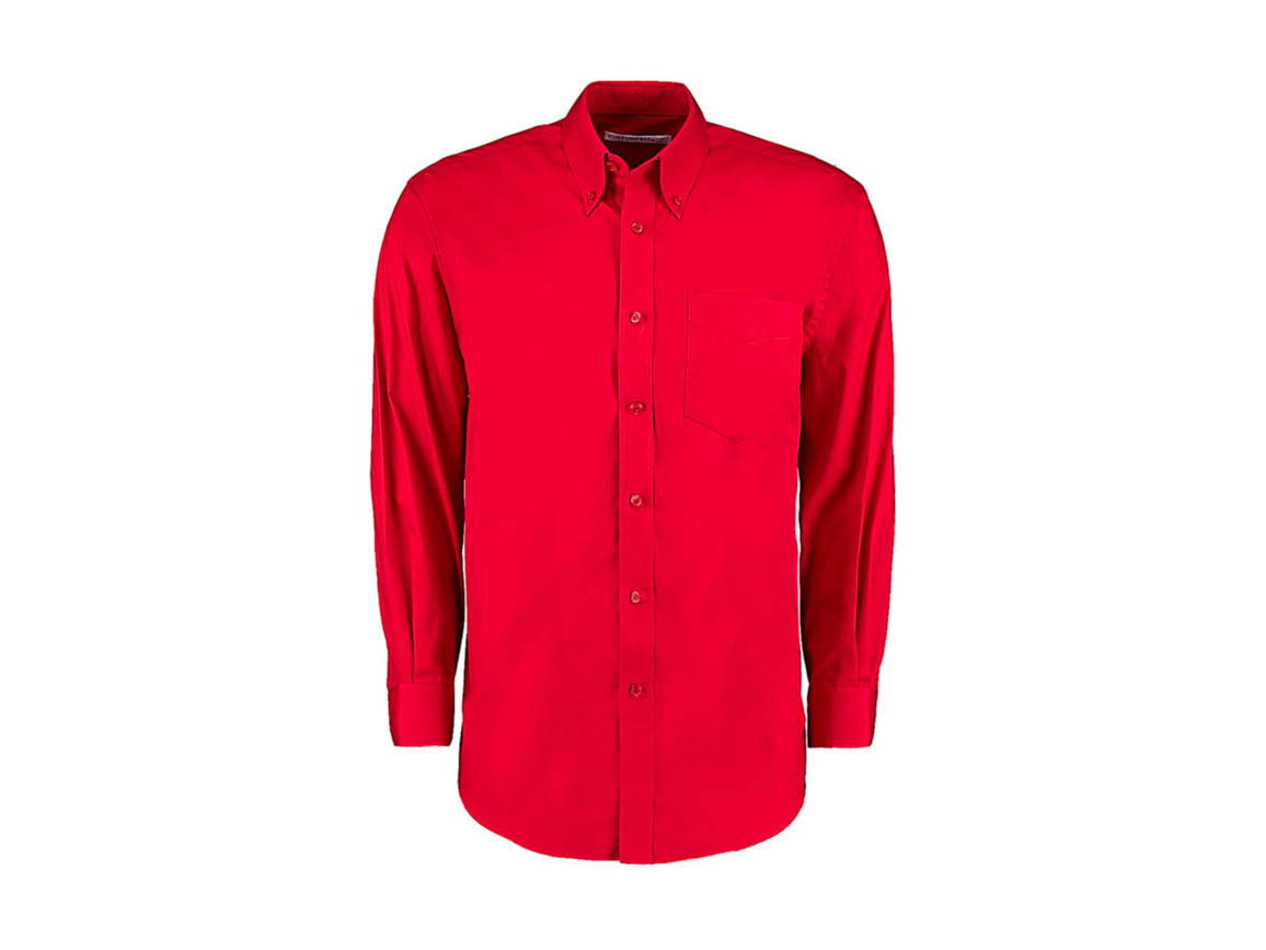 Kustom Kit Classic Fit Premium Oxford Shirt, Red, M bedrucken, Art.-Nr. 778114003