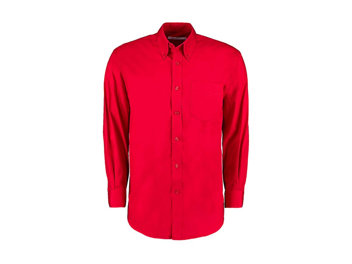 Kustom Kit Classic Fit Premium Oxford Shirt, Red, M bedrucken, Art.-Nr. 778114003