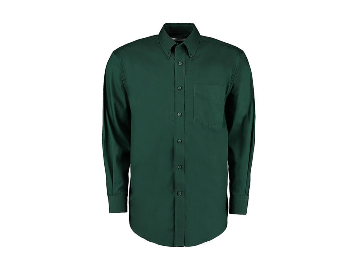 Kustom Kit Classic Fit Premium Oxford Shirt, Bottle Green, 2XL bedrucken, Art.-Nr. 778115409