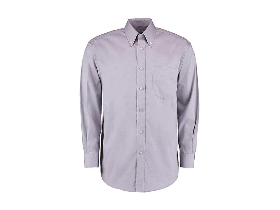 Kustom Kit Classic Fit Premium Oxford Shirt, Silver Grey, S bedrucken, Art.-Nr. 778117131