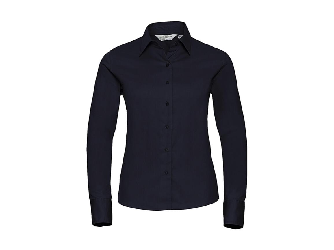 Russell Europe Ladies` Classic Twill Shirt LS, French Navy, 2XL (44) bedrucken, Art.-Nr. 779002017