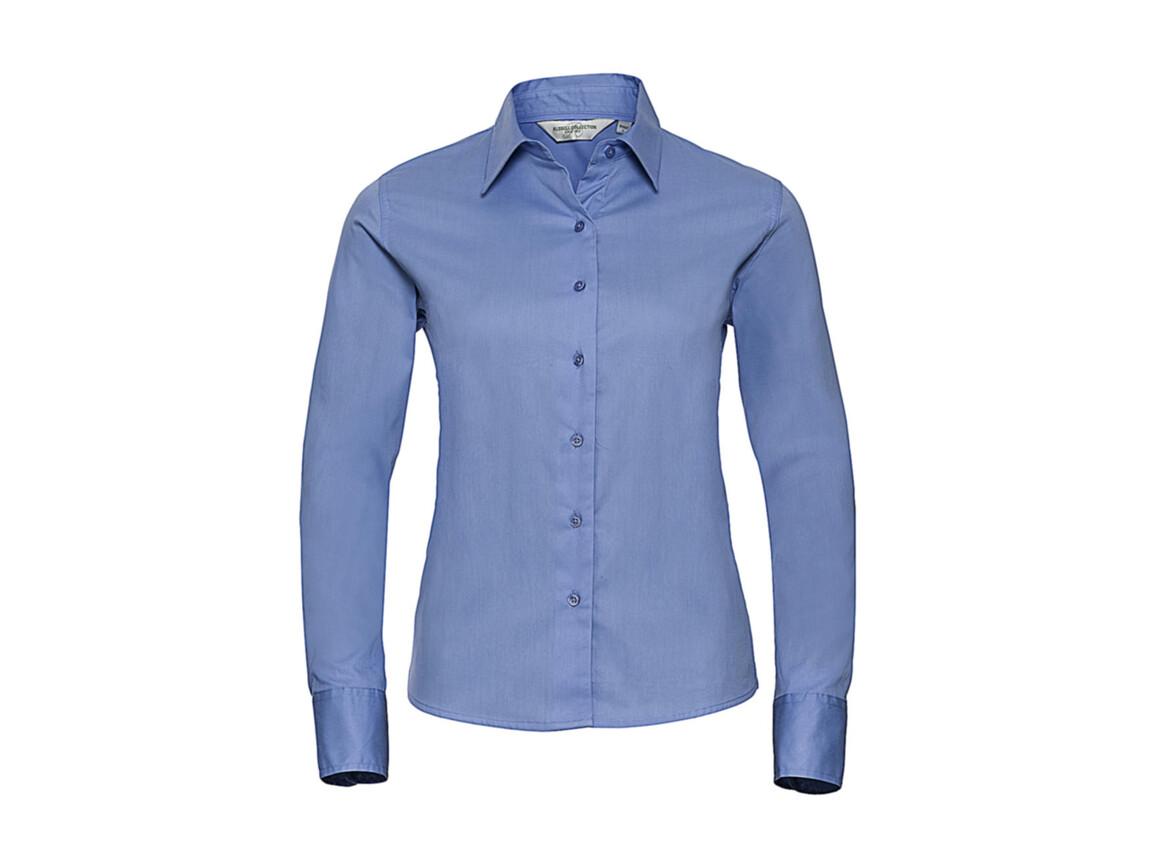 Russell Europe Ladies` Classic Twill Shirt LS, Blue, M (38) bedrucken, Art.-Nr. 779003014