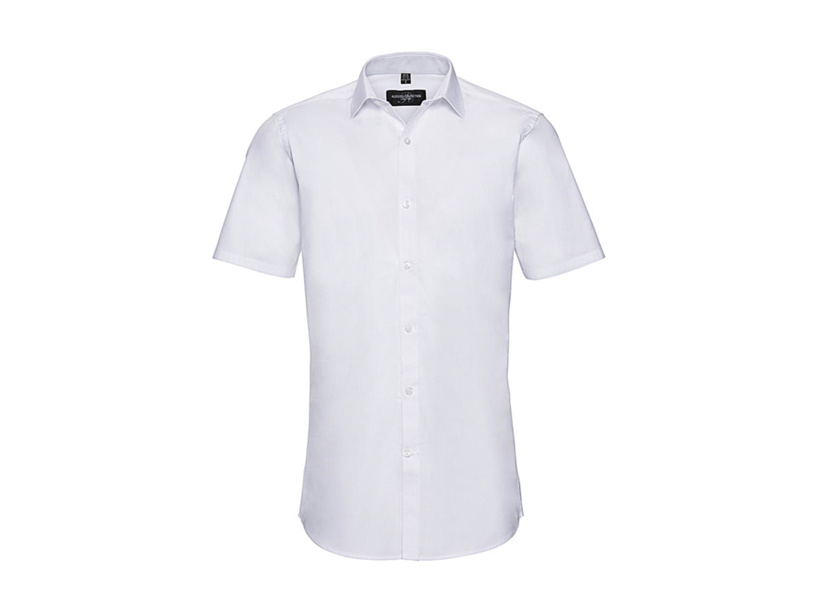 Russell Europe Men`s Ultimate Stretch Shirt, White, 3XL bedrucken, Art.-Nr. 781000008