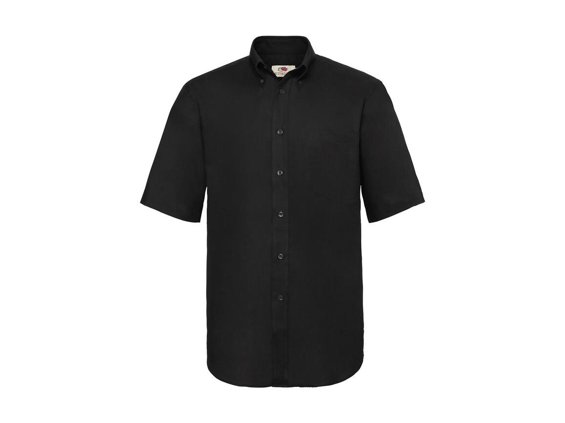 Fruit of the Loom Oxford Shirt, Black, L bedrucken, Art.-Nr. 784011015
