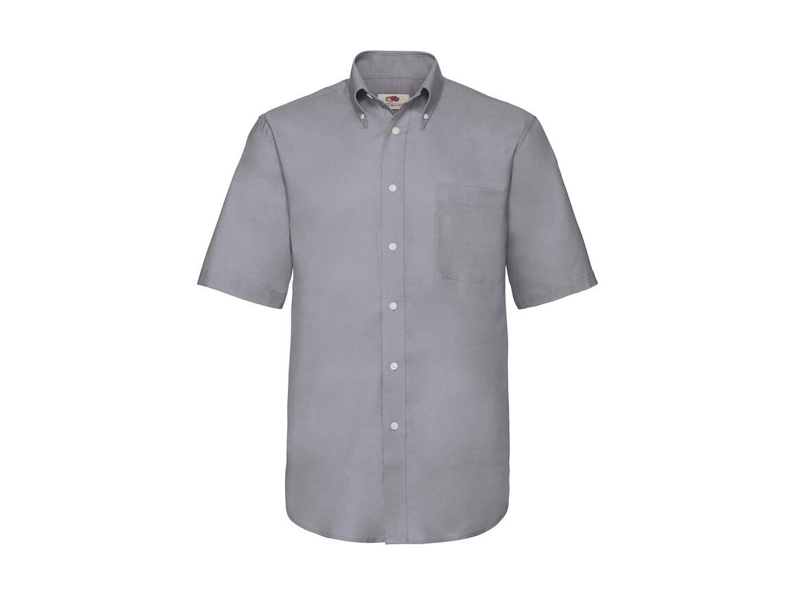 Fruit of the Loom Oxford Shirt, Oxford Grey, 2XL bedrucken, Art.-Nr. 784011147