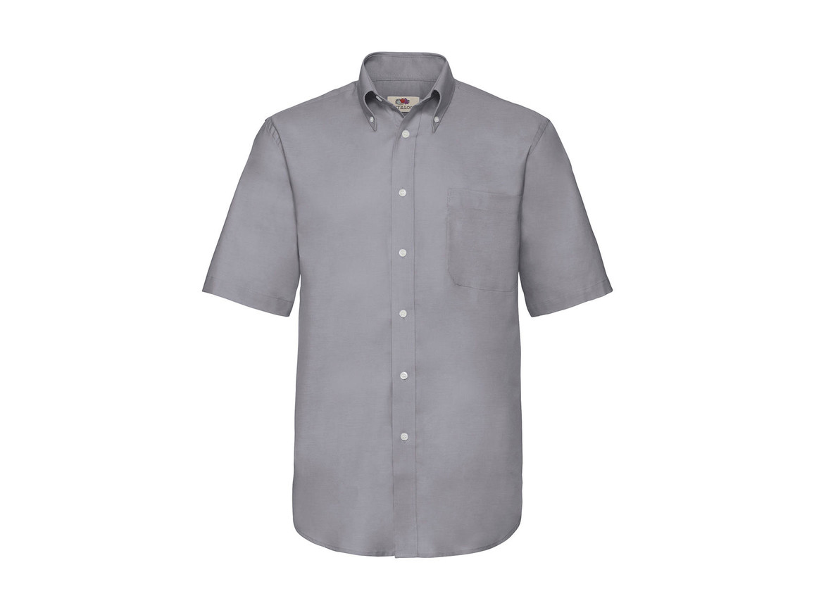 Fruit of the Loom Oxford Shirt, Oxford Grey, M bedrucken, Art.-Nr. 784011144