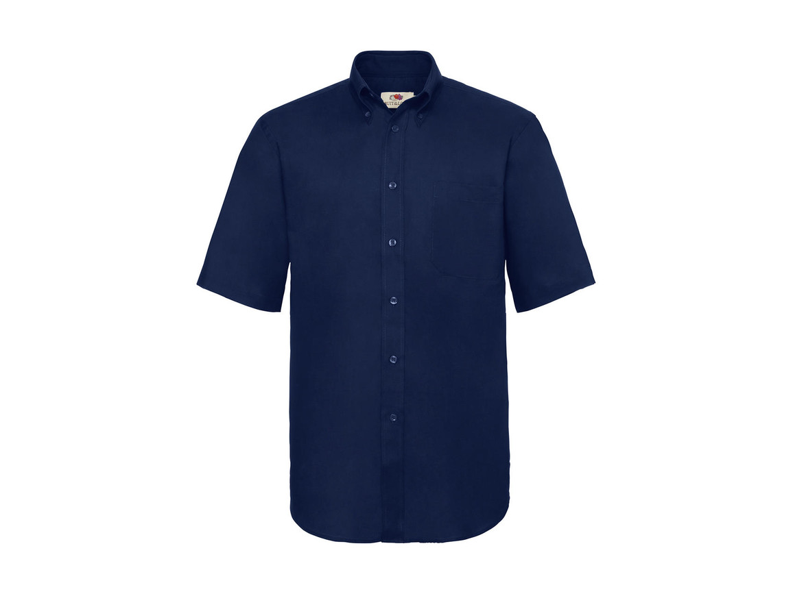 Fruit of the Loom Oxford Shirt, Navy, M bedrucken, Art.-Nr. 784012004