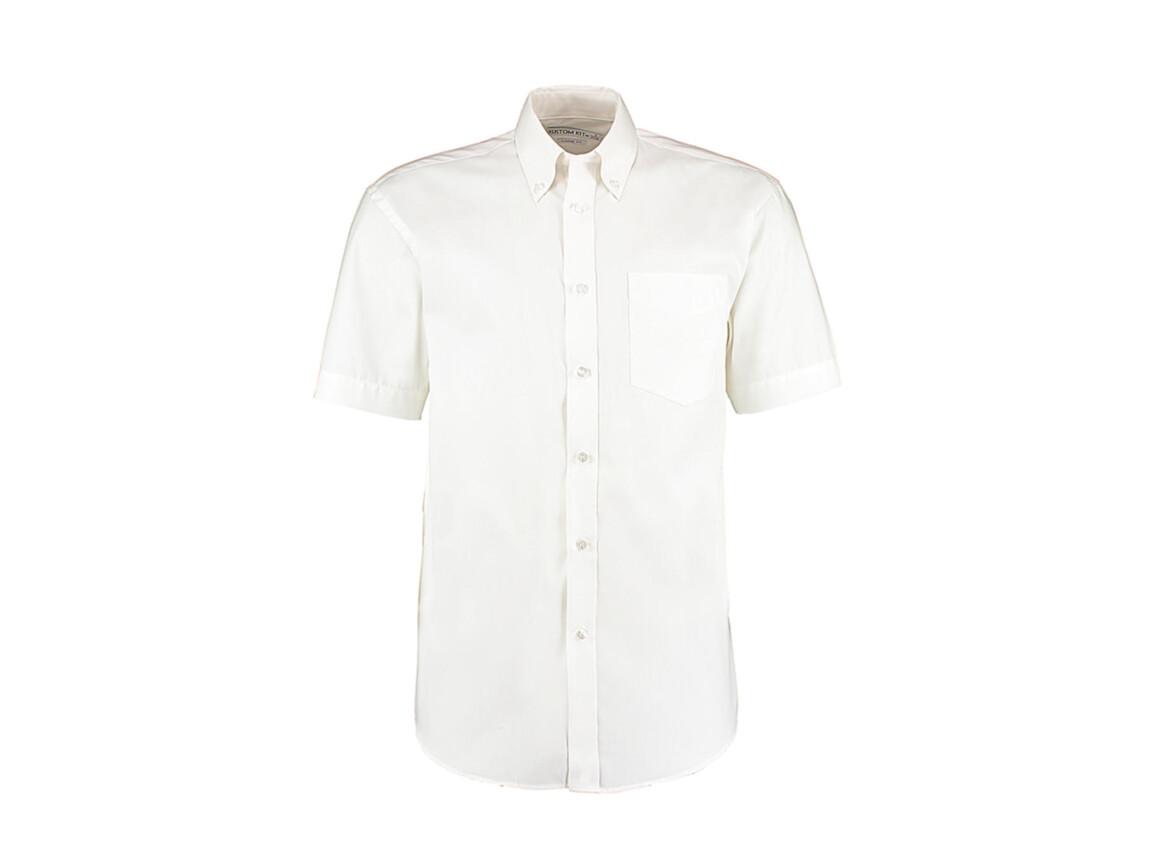 Kustom Kit Classic Fit Premium Oxford Shirt SSL, White, 2XL bedrucken, Art.-Nr. 784110009