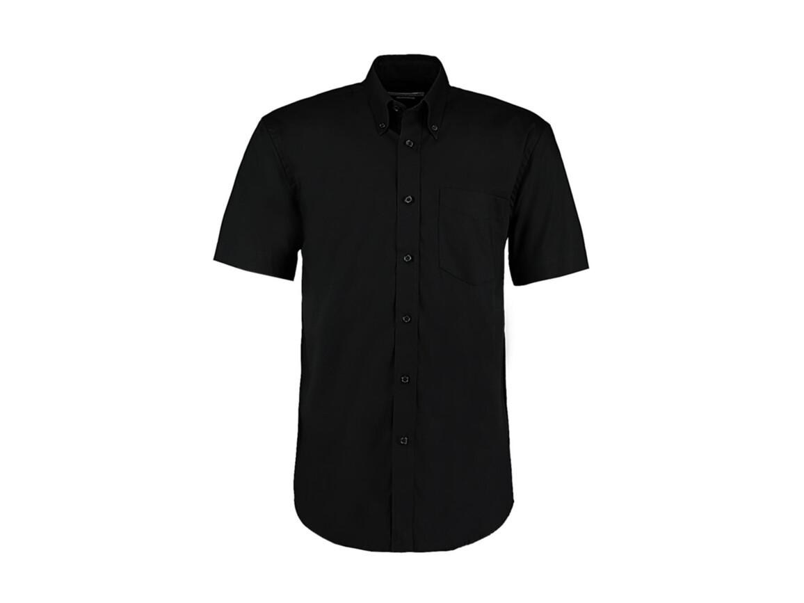 Kustom Kit Classic Fit Premium Oxford Shirt SSL, Black, 2XL bedrucken, Art.-Nr. 784111019