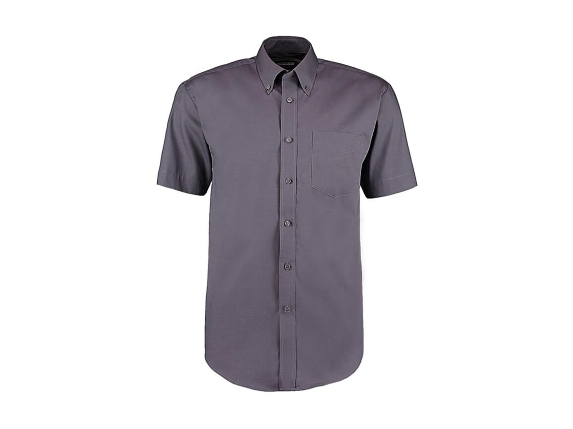 Kustom Kit Classic Fit Premium Oxford Shirt SSL, Charcoal, 2XL bedrucken, Art.-Nr. 784111309