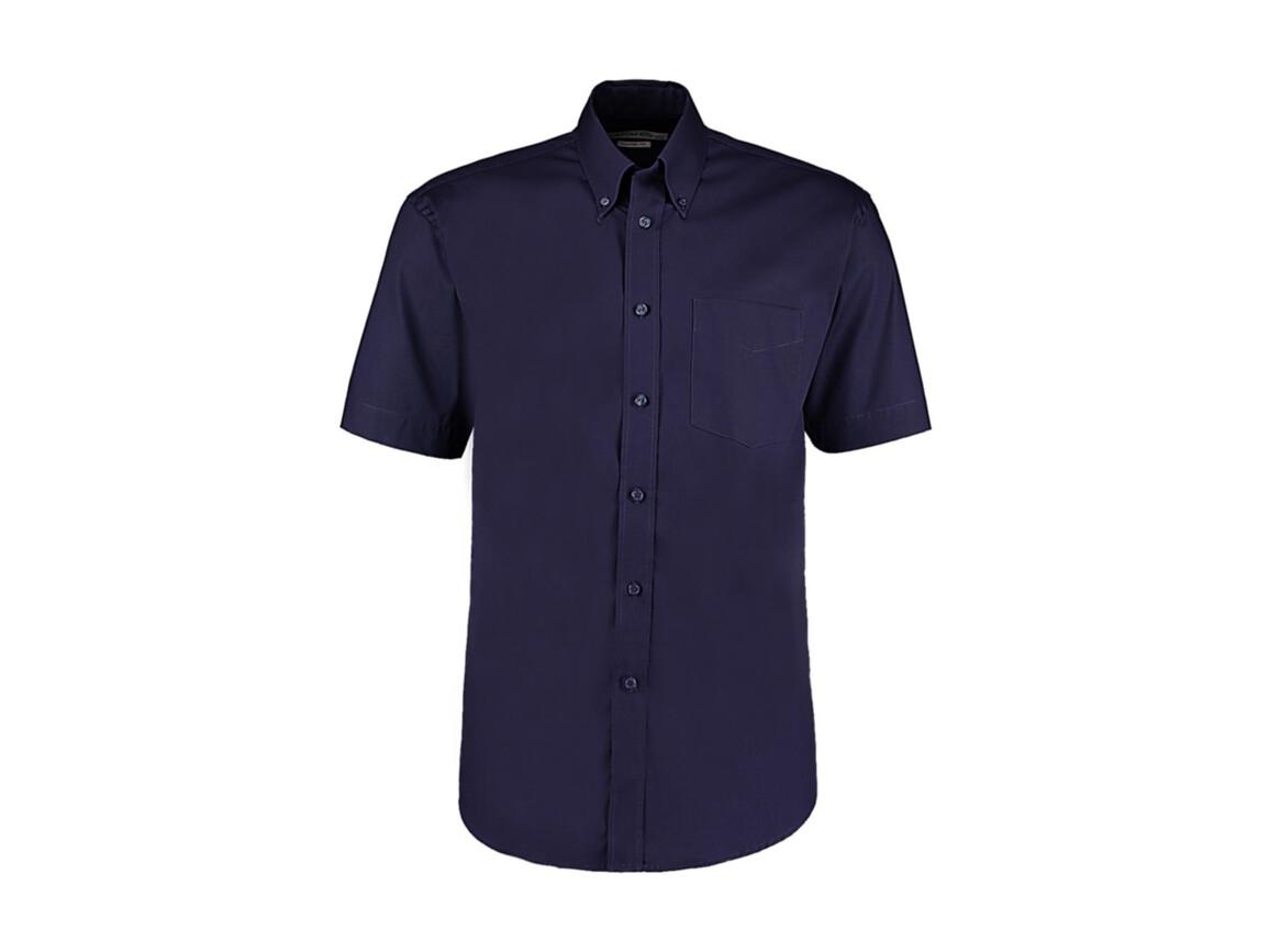 Kustom Kit Classic Fit Premium Oxford Shirt SSL, Midnight Navy, 2XL bedrucken, Art.-Nr. 784112059